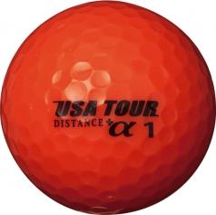 USA TOUR DISTANCE+α 12P ORANGEの商品画像 高反発コアによる大きな飛びと、高弾性カバーによるソフトな打感を実現<br />