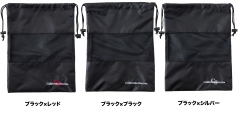 CSSB-3618の商品画像 使い勝手の良い、巾着型シューズバッグ。<br /> 全面中央にメッシュ生地採用で通気性抜群。