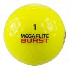 MEGAFLITE BURST YELLOWの商品画像 WARNING !  飛びすぎ注意の非公認球! !<br /> 超高弾性ラバーと超規格外仕様による驚きの超飛距離!