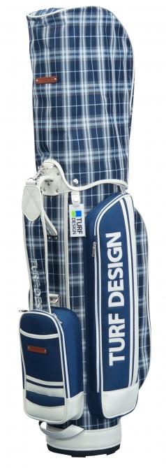 Caddie Bag TDCB-1770の商品画像 チェック柄にシンプルなポケットデザインの魅力的なキャディバッグ