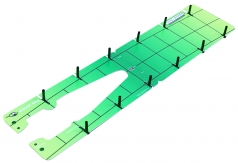 トータルストローク ELG-TS24の商品画像 トータル・ストロークは、理想的なストローク軌道とフェースアングルを一度に習得できるテンプレートです。<br /> 反復練習することで、この両方を自然に身に付けることができます。<br /> ※ゲート用ティ12本付き