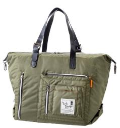 Tote Bag トートバッグ TDTB-1772の商品画像 大きさを変えることが出来るサイドのフック。<br /> 底部には便利なシューズポケット付。