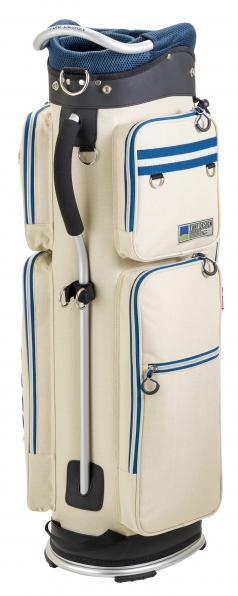 Caddie Bag TDCB-1870の商品画像 カジュアルな帆布風のポリエステルを使用。<br /> 手入れしやすいく使いやすい。<br /> 超軽量が魅力のキャディバッグ。