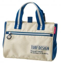 Mini Tote Bag ミニトートバッグ TDMT-1870の商品画像 取っ手を引っ張ることで簡単に開くことができる<br /> マグネット仕様。キャディバッグなどに脱着が可能な<br /> パーツを取っ手部分に装着。