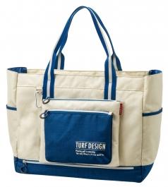 Tote Bag トートバッグ TDTB-1870の商品画像 収納力抜群の大きめのトート。<br /> ポーチはカラビナで装着しているので<br /> 簡単に取り外して持ち運びができます。<br /> 底部には便利なシューズポケット付き。